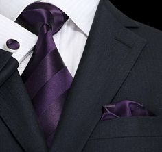 Shop for beautifully-designed men's silk necktie sets, wedding ties and bowties at a great price. Wide selection of colorful men's tie, pocket Purple Suits, Mens Silk Ties, Men Ties, Wedding Ties, Wedding Attire, Wedding Stuff, Wedding Groom, Tie Styles, Groom And Groomsmen