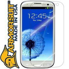 ArmorSuit MilitaryShield - Samsung Galaxy S3 Screen Protector Shield + Lifetime Replacements (ATT, Verizon, T-Mobile, Sprint, U.S. Cellular)
