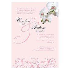 Classic Orchid Invitation