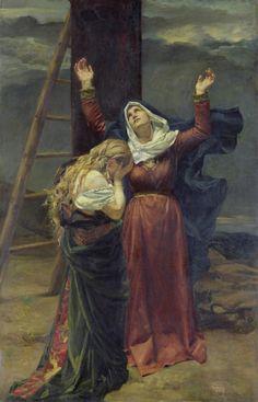 Magdalena i la Verge al peu de la Creu Jean Joseph Weerts