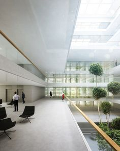 Berrel Berrel Kräutler Wins Competition to Expand WHO's Geneva Headquarters,Atrium. Image Courtesy of Berrel Berrel Kräutler