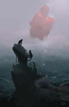 Red Space Ship, Eren ARIK on ArtStation at https://www.artstation.com/artwork/red-space-ship