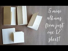"5 Mini Albums from one 12"" paper! - YouTube"