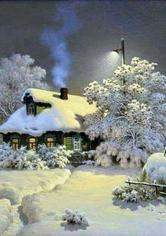 TianMai Hot New DIY Diamond Painting Kit Crystals Diamond Embroidery Rhinestone Painting Pasted Paint by Number Kits Stitch Craft Kit Home Decor Wall Sticker - Snow Cabin, Winter Szenen, Winter Magic, Winter Time, Beautiful Winter Scenes, Snow Scenes, Christmas Scenes, Christmas 2019, Merry Christmas, Winter Beauty