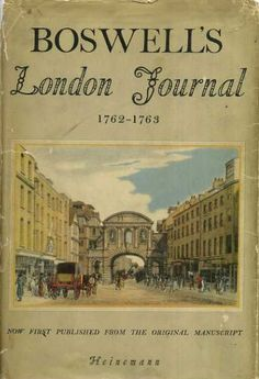 Boswell's London Journal, 1762 - 1763 by James Boswell http://www.amazon.com/dp/B0000BGQTN/ref=cm_sw_r_pi_dp_.WpEvb16PW853