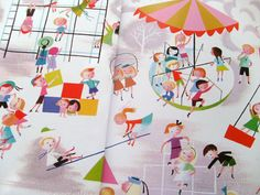 Endpapers from A Mary Blair Treasury of Golden Books (2012).
