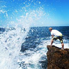 On the rock, under the sea #summer #wave #rock #sea #yaz #deniz #turkey