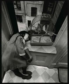 Bruce Davidson Girl With Bird in Cage From East 100th Street, 1966 Courtesy ofliquidnight