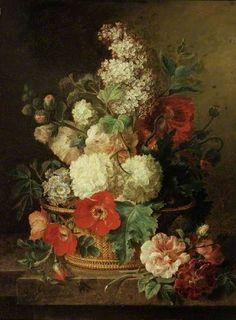 A basket of flowers cornelis van spaendonck