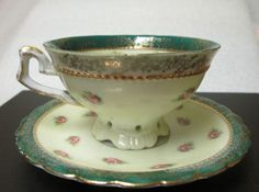 1951 tea set loma products ivory and gold teapot sugar creamer