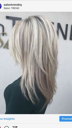 Love the cut and color! - Love the cut and color! Love the cut and color! Medium Hair Cuts, Medium Hair Styles, Curly Hair Styles, Layered Haircuts, Great Hair, Silver Hair, Hair Highlights, Cut And Color, Hair Looks