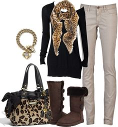 """leopard"" by sandreamarie on Polyvore"