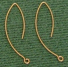 How to Make Long Earwires    © by Rena Klingenberg; all rights reserved. #Wire #Jewelry #Tutorial