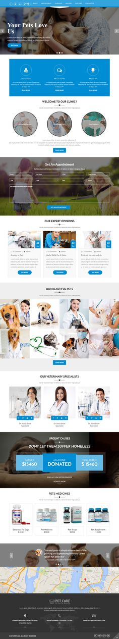 #Petcare is fully responsive Wordpress Theme best suitable for small pet store, clinic and pet day care centers. #petclinic #petdaycare #website