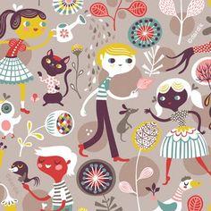Boys & Girls pattern by Helen Dardik