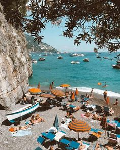 A lovely beach in Positano, Italy European Summer, Italian Summer, The Places Youll Go, Places To Go, Places To Travel, Travel Destinations, Amazing Destinations, Summer Vibe, Summer Beach