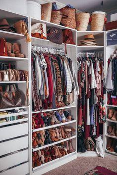 30 Ideas For Small Clothes Closet Organization Diy Wardrobes Wardrobe Organisation, Small Closet Organization, Organization Ideas, Bedroom Organization, Closet Storage, Kitchen Organization, Storage Ideas, Closet Shelving, Clothing Organization
