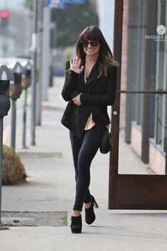 Lea Michele casual look