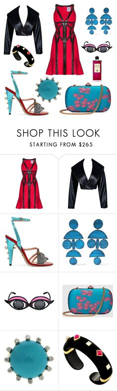"""The girl who knows what she wants"" by jenna-hanssen ❤ liked on Polyvore featuring beauty, Hervé Léger, Alaïa, Gucci, Annie Costello Brown, Linda Farrow, Valentin Magro, Margot McKinney and Serge Lutens"