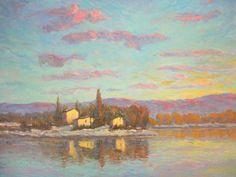 il lago all' alba by Francesco Sessa