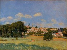 View of St. Cloud - Sunshine  Alfred Sisley - 1876  Art Gallery of Ontario (Canada)  Painting - oil on canvas  Height: 54 cm (21.26 in.), Width: 73 cm (28.74 in.)