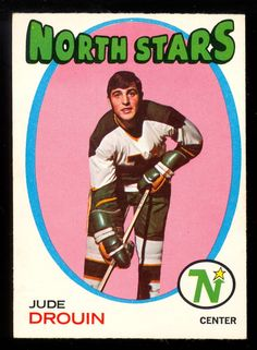1971 72 Topps 68 JUDE DROUIN NM MINNESOTA NORTH STARS HOCKEY CARD #Minnesotanorthstars