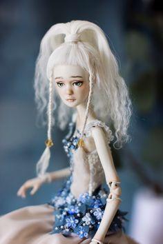 "Porcelain BJD ""Fern Flower"" created by Nymphai Dolls."