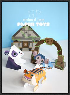 Animal Jam - Lost Temple of Zios Free Paper Toy Download - http://www.papercraftsquare.com/animal-jam-lost-temple-zios-free-paper-toy-download.html