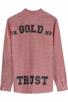 Overhemd rood geblokt - achterkant. Foto door Exposar voor In Gold We Trust.  #productfotografie #flatlay