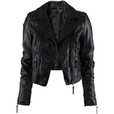 H&M Jacket ($31) ❤ liked on Polyvore featuring outerwear, jackets, tops, black, casacos, motorcycle jacket, black motorcycle jacket, moto jacket, quilted biker jacket y h&m