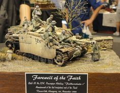 """Farewell of the Faith"" scale. By Volker Bemmbennek. German StuG III G. Tamiya Model Kits, Tamiya Models, Panzer Iii, Twilight Princess, Diorama Militar, Military Action Figures, Military Diorama, Military Art, Model Tanks"