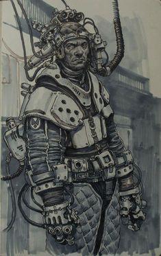 """""""sketch I did while in San Francisco, as an instructor at Massive Black's workshop 2012"""" - Karl Kopinski"""