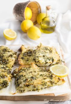 Baked perch fillet marinated with parsley (Nutmeg) – Shellfish Recipes Shellfish Recipes, Fish And Chips, Mo S, Cata, Roast Beef, Quiche, Good Food, Food And Drink, Chicken