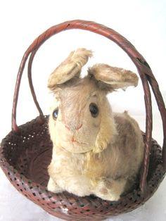 Vintage Steiff Pummy crouching Rabbit with by SugarLMtnAntqs