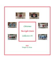 Christmas Tea Light Cover E-Book by Diane Masters AKA Phoenix Wolf Creations