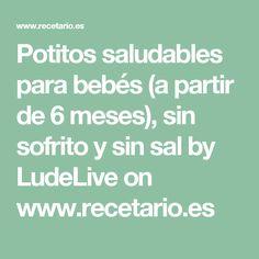 Potitos saludables para bebés (a partir de 6 meses), sin sofrito y sin sal by LudeLive on www.recetario.es