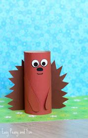 ▷ 1001 + ideas for tinkering with toilet rolls to imitate- ▷ 1001 + Ideen für Basteln mit Klorollen zum Nachmachen a brown hedgehog with a funny expression, toys for children, handicrafts with toilet rolls - Kids Crafts, Animal Crafts For Kids, Summer Crafts For Kids, Halloween Crafts For Kids, Art For Kids, Christmas Crafts, Arts And Crafts, Wood Crafts, Easy Crafts