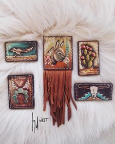Leather Tooling, Cowhide Leather, Leather Jewelry, Leather Craft, Art Studio At Home, Leather Pattern, Western Style, Craft Patterns, Banquet