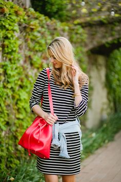 Blogger Ivory Lane in our #JoeFresh Striped Dress