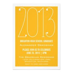 Trendy 2013 Graduation Invitation #graduation #party Available in many great color choices!