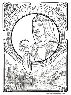 Gothic coloring page | Fantasy Coloring Pages for Adults | Pinterest ...