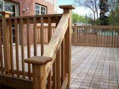 DIY WOODEN PORCH HANDRAIL IDEAS   wood deck railing, deck railing, deck rails, hand rails, deck ...