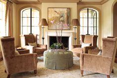 living room of 'peachtree heights' design project of 'liz williams' ❀ ~  ◊  photo via portfolio » 'liz williams interiors'