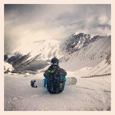 Beautiful view.  #snowboarding  #colorado