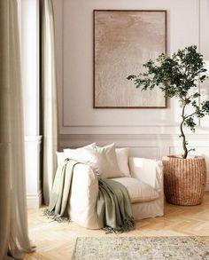 Chic Living Room, Home Living Room, Living Room Decor, Living Spaces, Bedroom Decor, Decor Room, Studio Living, Studio Room, Cozy Living