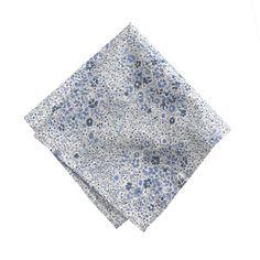 Blue floral pocket square
