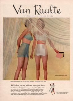 """1951- """"...a girdle can be gay as a day in May..."""" LOL!"""