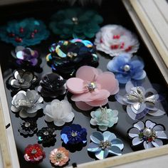Flower sequins Patch Rhinestones beads cloth Applique sequin accessory coat in Crafts, Sewing, Embellishments & Finishes Flower Patch, Flower Applique, Cloth Flowers, Fabric Flowers, Bead Embroidery Jewelry, Beaded Embroidery, Sequin Patch, Leather Flowers, Beaded Brooch