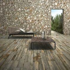 Fliesen im verwitterten Holz-Look für die Terrasse