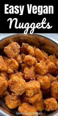 These vegan nuggets are healthy version of your favorite chicken nuggets recipes. These vegetarian nuggets are made from tofu, chickpeas and healthy veggies. They are gluten free and easy to make at home and perfect for kids. #kidfood #healthyfingerfood #vegannuggets #appetizers Vegan Snacks On The Go, Healthy Vegan Snacks, Vegetarian Snacks, Vegan Lunches, Vegan Meals, Vegan Food, Paleo, Vegetarian Nuggets, Vegan Chicken Nuggets